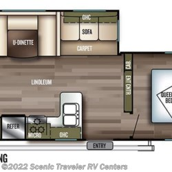 2018 Forest River Salem 27DBUD floorplan image