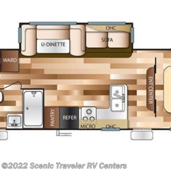 2018 Forest River Salem T32BHI floorplan image