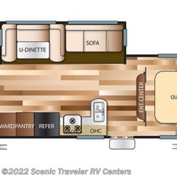 2019 Forest River Salem Cruise Lite T263BHXL floorplan image