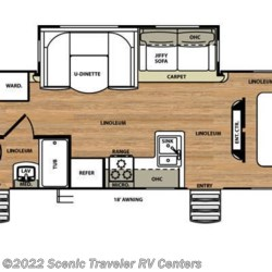 2016 Forest River Vibe 308BHS floorplan image
