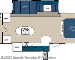 2014 Forest River Surveyor Sport SP285RBDS floorplan image