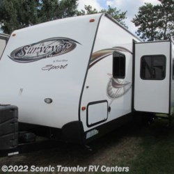 2014 Forest River Surveyor Sport SP285RBDS  - Travel Trailer Used  in Baraboo WI For Sale by Scenic Traveler RV Centers call 877-744-6305 today for more info.