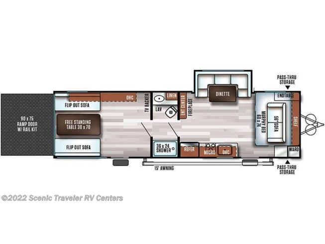 Floorplan of 2020 Forest River Salem FSX 280RT