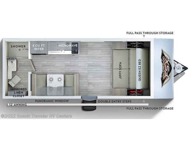 Floorplan of 2020 Forest River Salem FSX 167RB