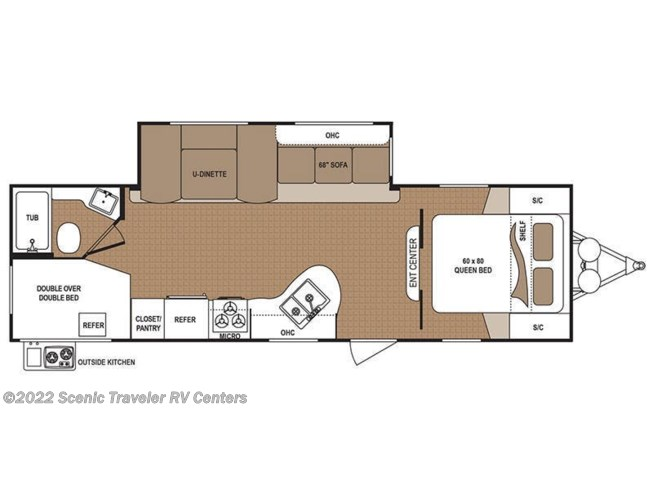 2017 Dutchmen Aspen Trail 2750BHS floorplan image