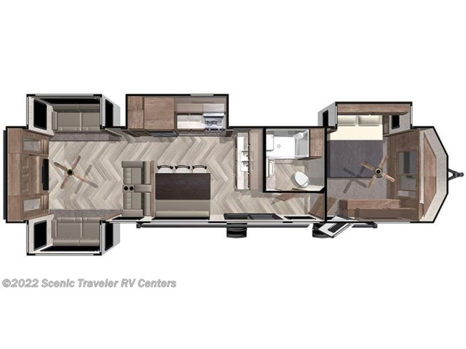 Floorplan of 2021 Forest River Salem Villa Estate 395RET