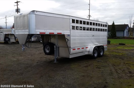 "4 Head Livestock Trailer - 2019 EBY Maverick 6'11 X 16' X 6'6"" available New in Halsey, OR"