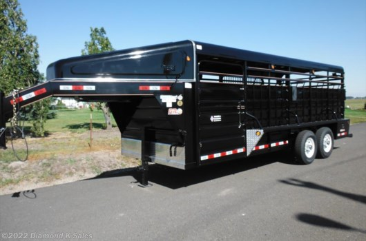 "Livestock Trailer - 2020 Miscellaneous gr  Cattleman 20'L X 6'8""W X 6'6"" T available New in Halsey, OR"