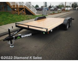 #1001931 - 2018 Summit Trailer Alpine 7' X 16' 7K Flatbed W/Dove Tail