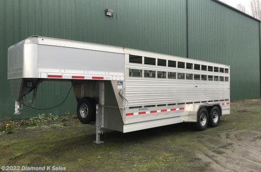 "Livestock Trailer - 2020 EBY Maverick LS GN1MV 6'11"" X 24' X 6'6"" available New in Halsey, OR"