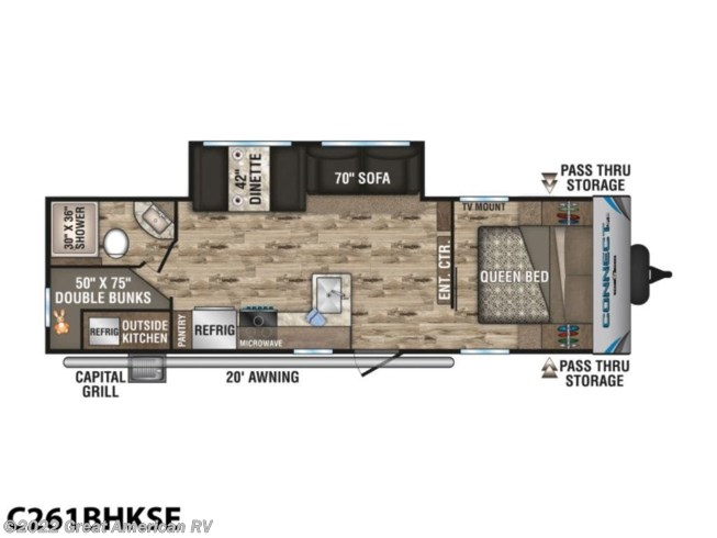 2020 K-Z Connect SE C261BHKSE - New Travel Trailer For Sale by Sherman RV Center in Sherman, Mississippi