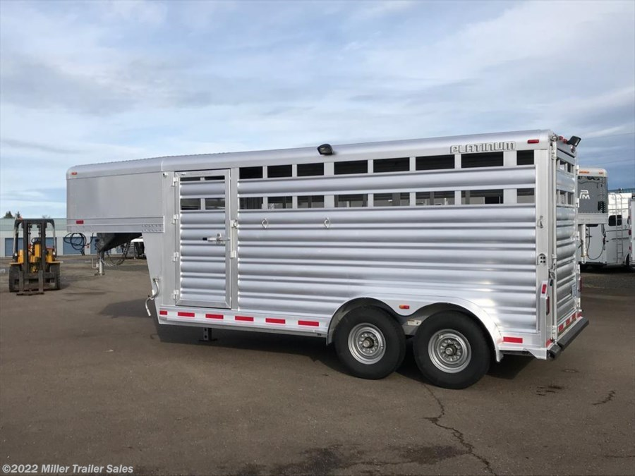 2017 Platinum Coach 16' Stock Trailer