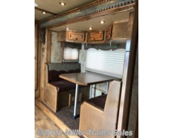 "#7337 - 2015 Platinum Coach Outlaw 4 horse reverse 17'4"" sw with slide"