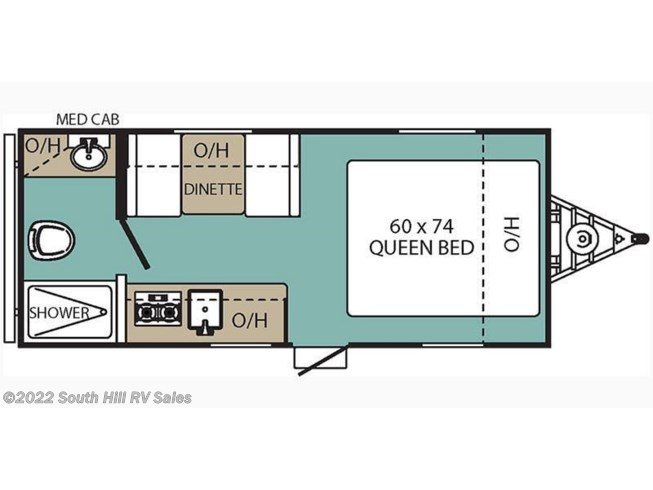 2018 Coachmen Clipper 17FQ floorplan image