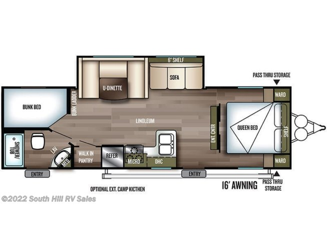 2019 Forest River Salem Cruise Lite 263BHXL floorplan image