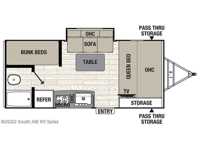 2019 Coachmen Freedom Express Pilot 20BHS floorplan image