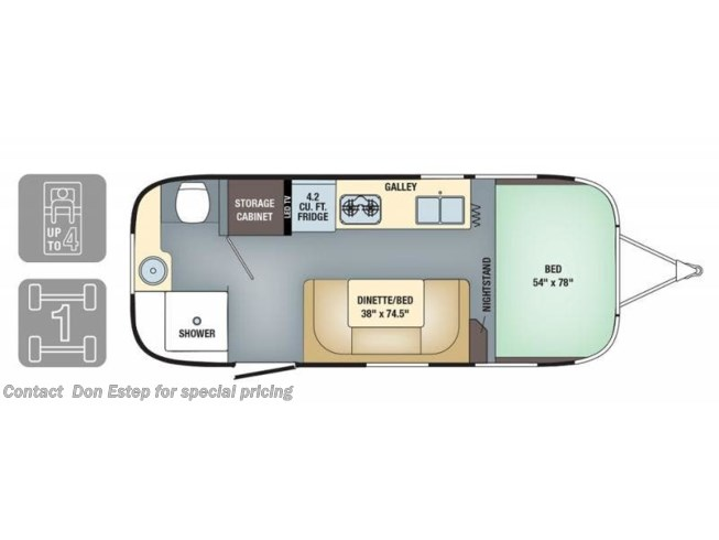 2019 Airstream Sport 22FB - New Travel Trailer For Sale by Don Estep  & Chip Grady in Southaven, Mississippi