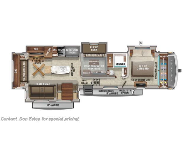 New 2021 Jayco North Point 377RLBH available in Southaven, Mississippi