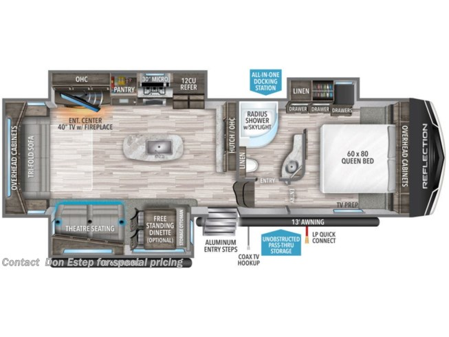New 2021 Grand Design Reflection Fifth-Wheel 303RLS available in Southaven, Mississippi