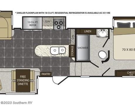 Al35re0262 2016 Keystone Alpine 3511re Residential