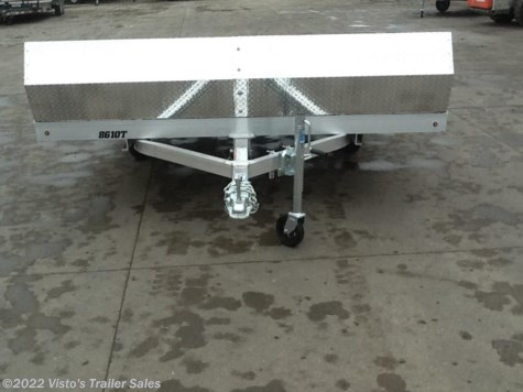 "New 2018 Aluma 8'6""X10' Snowmobile Trailer For Sale by Visto's Trailer Sales available in West Fargo, North Dakota"