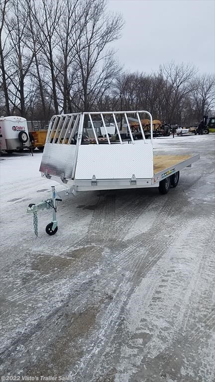 "New 2018 Aluma 8'6""X14' Snowmobile Trailer For Sale by Visto's Trailer Sales available in West Fargo, North Dakota"