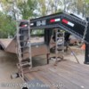 2008 Load Trail 102''X32' Gooseneck Deckover  - Flatbed/Flat Deck (Heavy Duty) Used  in West Fargo ND For Sale by Visto's Trailer Sales call 877-830-3966 today for more info.