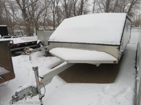 Used 1999 Newmans 102''X22' Snowmobile Trailer For Sale by Visto's Trailer Sales available in West Fargo, North Dakota