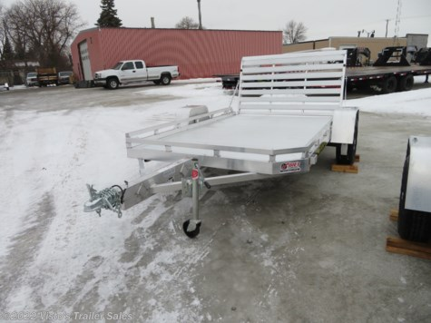 "New 2020 Aluma 7710H 77""X10' Utility Trailer For Sale by Visto's Trailer Sales available in West Fargo, North Dakota"