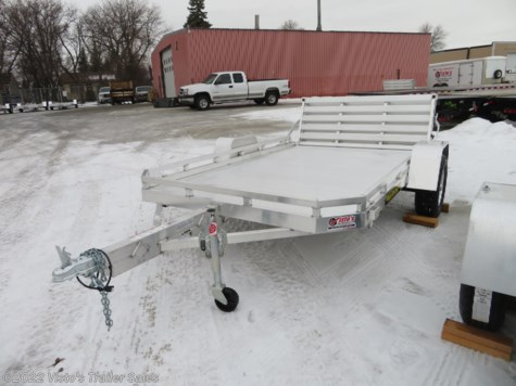 "New 2019 Aluma 7710H 77""X10' Utility Trailer For Sale by Visto's Trailer Sales available in West Fargo, North Dakota"