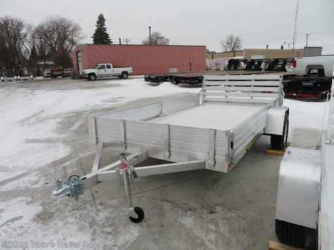 New 2019 Aluma 8112SR 81''X12' Utility Trailer For Sale by Visto's Trailer Sales available in West Fargo, North Dakota