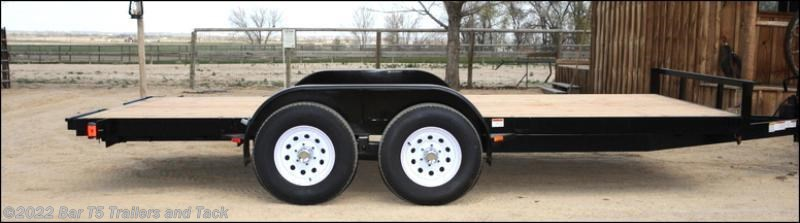 "2017 C&B 16' Car Trailer Straight Deck 80""wide"