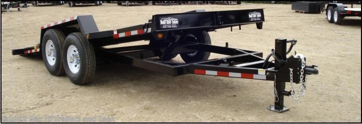 "2017 C&B 18' HD Car Trailer Tilt Deck 80""wide"