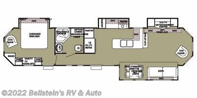 2012 Forest River Cherokee T39FL floorplan image