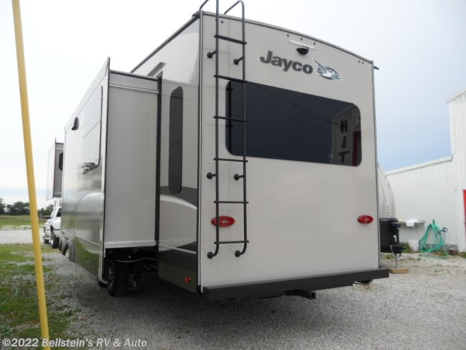 2020 Jayco Eagle Fifth Wheels 317RLOK - New Fifth Wheel For Sale by Beilstein's RV & Auto in Palmyra, Missouri features 50 Amp Service, Air Conditioning, Alloy Wheels, Aluminum Entrance Steps, AM/FM/CD, Automatic Leveling Jacks, Auxiliary Battery, Backup Camera, Black Tank Flush, Cable Prepped, CO Detector, Converter, Detachable Power Cord, DVD Player, Enclosed Water Tank, Exterior Speakers, External Shower, Fiberglass Sidewalls, Free Standing Dinette w/Chairs, Front Fiberglass Cap w/Window, Furnace, Glass Shower Door, Heated Underbelly, King Size Bed, Ladder, LED HDTV, LED Lights, LP Detector, Medicine Cabinet, Microwave, Mor-Ryde Pin Box, Multi Media Sound System w/Input Jacks, Oven, Pass Thru Storage, Pocket Door(s), Power Awning, Propane, Refrigerator, Roof Vent, Roof Vents, Screen Door, Shower, Skylight, Slam Latch Baggage Doors, Slideout, Smoke Detector, Solid Surface Countertops, Stainless Appliances, Stove, Surround Sound System, Theater Seating, TV Antenna, Water Heater