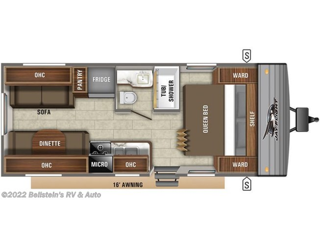 Floorplan of 2020 Jayco Jay Flight SLX 212QBW