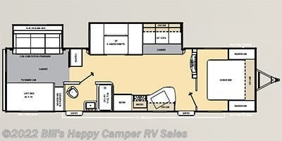 2014 Coachmen Catalina 323BHDS floorplan image