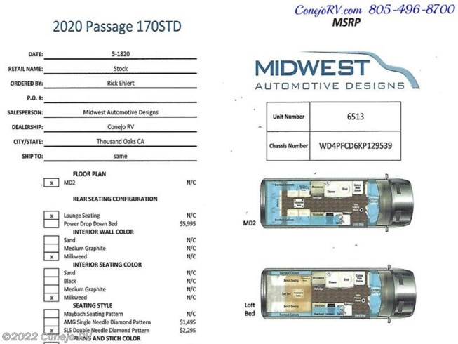 2021 Midwest Passage 170 MD2 - New Class B For Sale by Conejo RV in Thousand Oaks, California