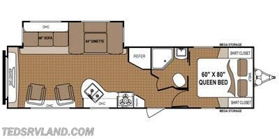 2013 Dutchmen Aspen Trail 3125RLS floorplan image