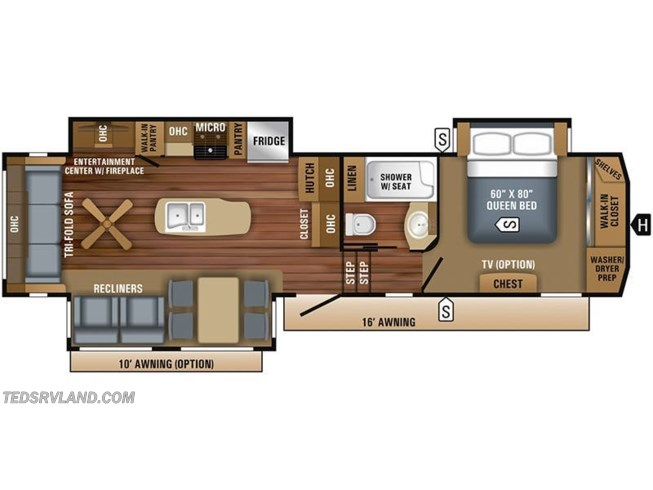 Floorplan of 2019 Jayco Eagle 321RSTS