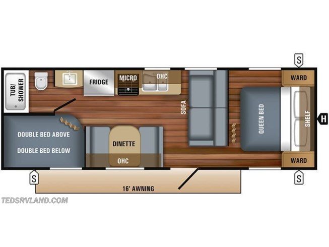 2019 Jayco Jay Flight SLX 264BH floorplan image
