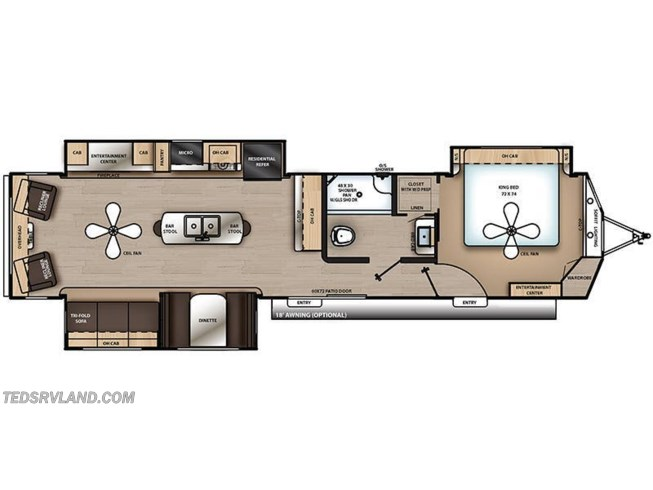 2019 Coachmen Catalina Destination 39RLTS floorplan image