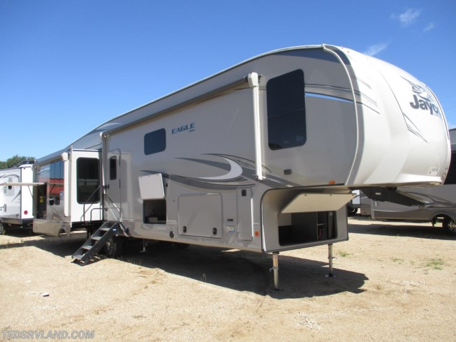 2020 Jayco Eagle 357MDOK - New Fifth Wheel For Sale by Ted's RV Land in  Paynesville, Minnesota features Refrigerator, Skylight, Roof Vents, Spare Tire Kit, Auxiliary Battery