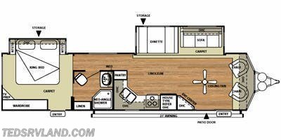 Floorplan of 2014 Forest River Salem Villa 353FLFB