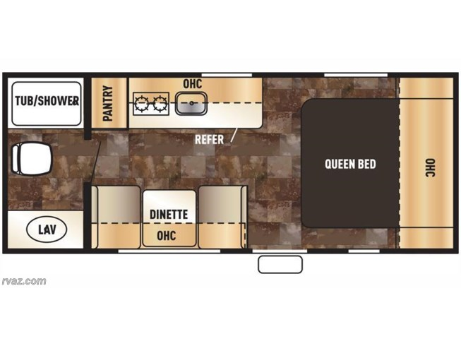 2015 Forest River Wolf Pup 16FQ floorplan image