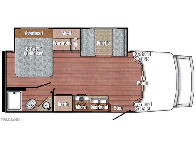 2018 Gulf Stream BT Cruiser 5245 floorplan image