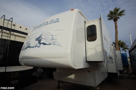 Used 2005 Keystone Montana 3400RL Quad Slide 5th Wheel For Sale by Auto Corral RV available in Mesa, Arizona