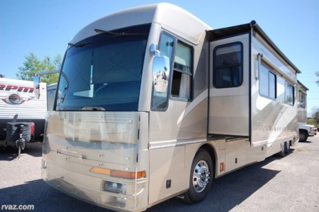 "<div style=""font-family: HelveticaNeue; font-size: 12px;""><span style=""font-family: 'comic sans ms', sans-serif; font-size: 18px;"">2006 American Tradition Tag Axle Diesel Pusher with low miles and ready to cruise!  This RV is beautiful overall for a coach that is 14 years old.  You are getting some of the finest in engineering and ride, with a rich assortment of features!!! </span></div>