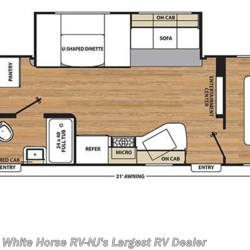 2017 Coachmen Catalina SBX SBX 321BHDS CK 2-BdRM 2-Slides Ext Kitchen floorplan image