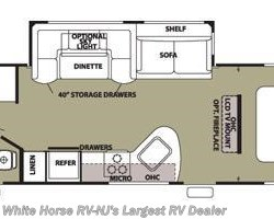 2013 Forest River Cherokee 274BH 2-BdRM U-Dinette & Sofa Slide-out w/Bunks floorplan image